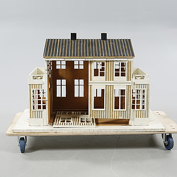 """DOCKHUS, """"Direktörens villa"""", modell från Trädgårdsföreningen i Göteborg, 1900-tal."""