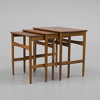 HANS J. WEGNER, satsbord, 3 delar, Andreas Tuck, Danmark, 1900-talets mitt.