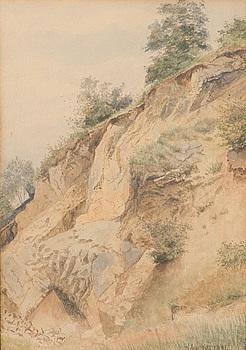 OKÄND KONSTNÄR, akvarell, daterad Wchw. Juli 1891.