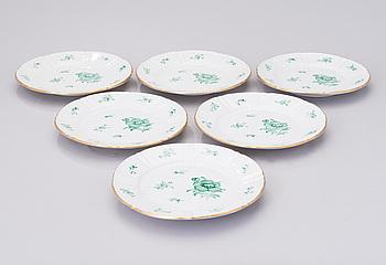 TALLRIKAR, 6 dt, porslin. Meissen Oven and Porcelain Manufactory (tidigare Carl Teichert).