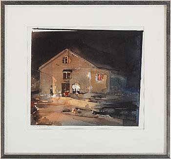 LARS LERIN, akvarell, signerad Lars Lerin och daterad 93.