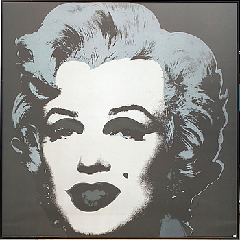ANDY WARHOL, efter, offsetlitografi / poster. The Andy Warhol Foundation, 1993.