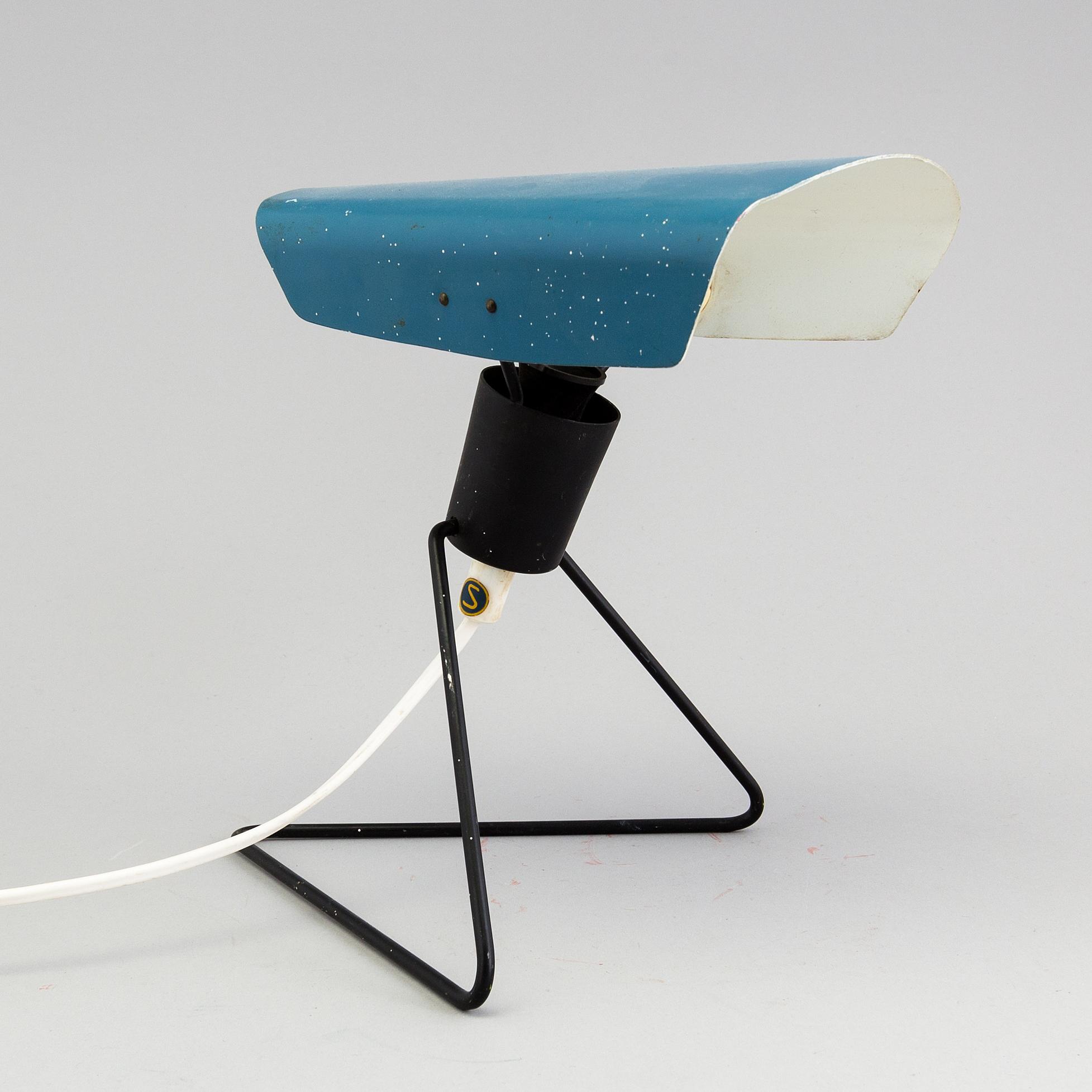 auktionstipset - bordslampa falkenbergs belysning, 1960-tal.