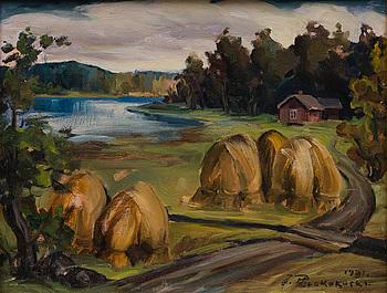 JALMARI RUOKOKOSKI, olja på kartong, signerad och daterad 1931.