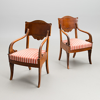 A PAIR OF RUSSIAN ARMCHAIRS, Russia first half of the 19th century, Nikolai I.