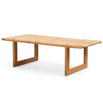 167. Børge Mogensen, A Børge Mogensen oak and rattan bench, model 5272, Fredericia Furniture, Denmark 1950-60-s.