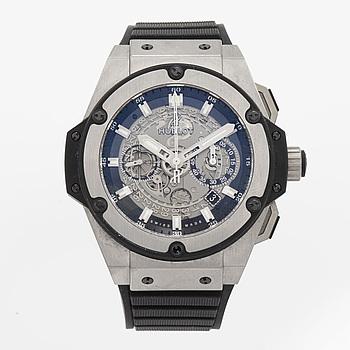 HUBLOT, King Power, Unico Titanium, flyback kronograf, armbandsur, 48 mm,