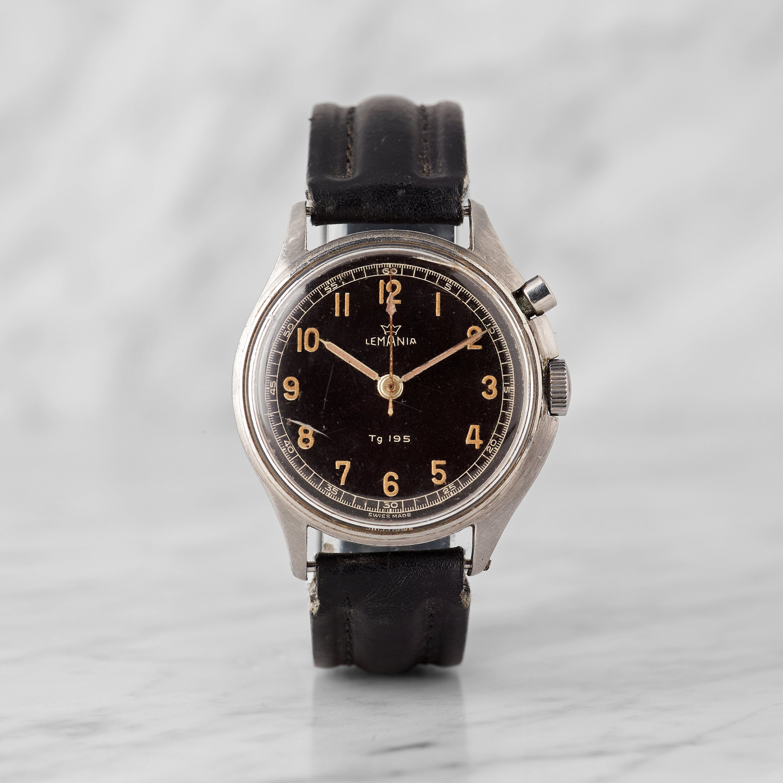 Lemania Tg 195 Tre Kronor Three Crowns Wristwatch 40