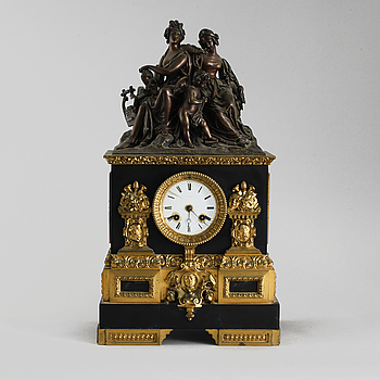 A mantle clock from around the turn of the century 1900.