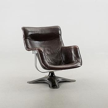 """YRJÖ KUKKAPURO, fåtölj, """"karuselli"""", Haimi, 1960/1970-tal."""