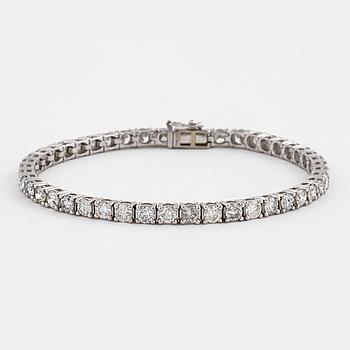 ARMBAND, med briljantslipade diamanter totalt ca 6.90 ct.