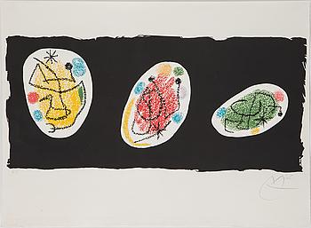 JOAN MIRÓ, färglitografi, 1968, signerad, H.C.