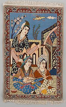MATTA, Isfahan, figural, part silk, ca 111 x 71 cm.
