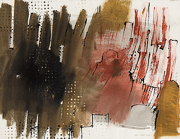 ENDRE NEMES, ENDRE NEMES, watercolour and ink, signed and  dated 1959.