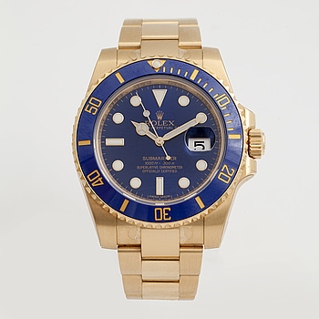 ROLEX, Oyster Perpetual Date, Submariner (1000ft=300m), Chronometer, armbandsur, 40 mm,