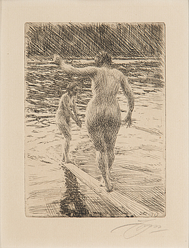 ANDERS ZORN, ANDERS ZORN, etching, 1919, signed in pencil.