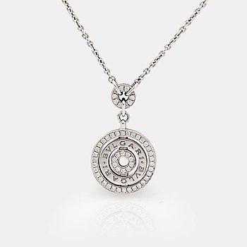 802. A brilliant cut diamond neckace by Bulgari.