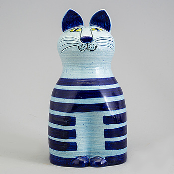 "LISA LARSON, figurin i stengods, ""Trull"" Gustavsberg. Formgiven 1968."