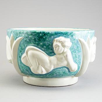 "MARGARETA ""MAGGIE"" WIBOM, bålskål, keramik, Upsala-Ekeby."