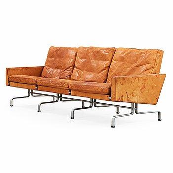 187. POUL KJAERHOLM, soffa, 'PK-31-3', E Kold Christensen, Danmark 1960-tal.