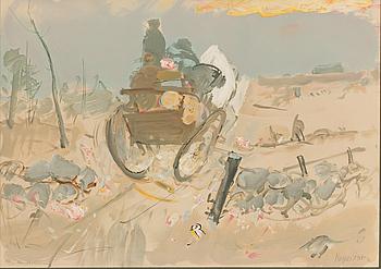 RAGNAR PERSSON, handkolorerad färglitografi, signerad och numrerad 144/250.