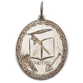 ORDENSTECKEN, silver, Ordensällskapet Pro Lantura i Karlskrona 1786. Vikt ca 14 gram.