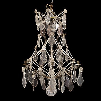 a rococo-style chandelier from the first half of the 20th century.