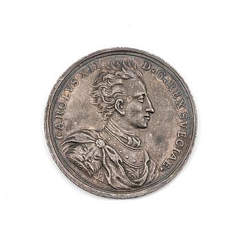 MEDALJ, silver, Georg Hautsch, Nürnberg 1706. Vikt ca 26 gram.