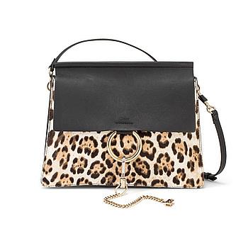 "A Chloé ""Faye"" handbag with imitation leopard."