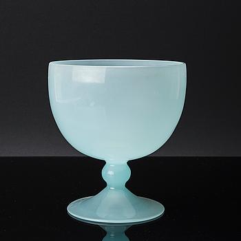 SKÅL PÅ FOT, glas, Murano 1950-tal.