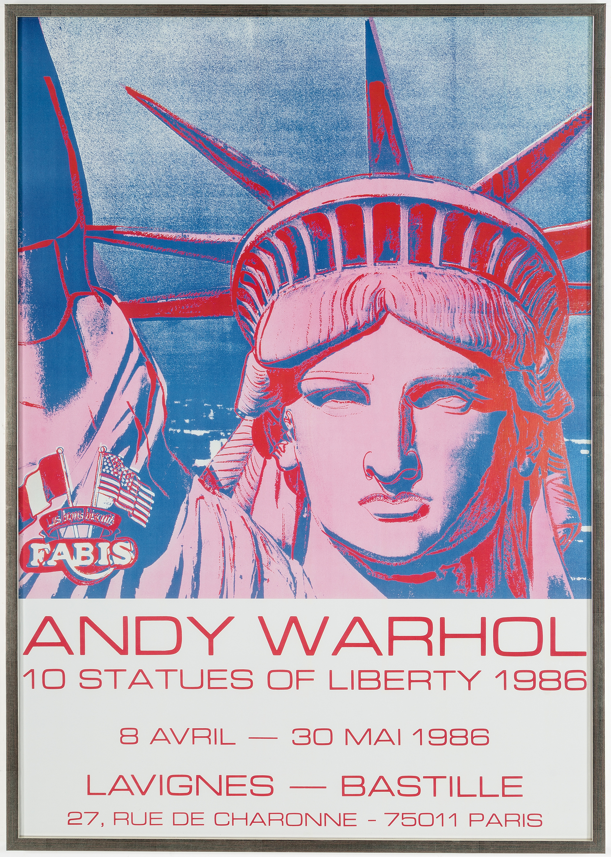 Andy Warhol Offsetlitograph 10 Statues Of Liberty 1986 Printed At Marais Pa Galerie Lavignes Bastille Bukowskis