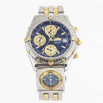 "BREITLING, Chronomat, ""Tachymetre"", armbandsur. 39 mm, kronograf."