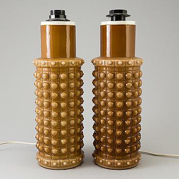 HELENA TYNELL, bordslampor, ett par, modellnummer 1161,  Luxus, formgivna 1968.