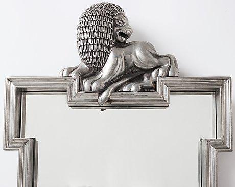 Anna petrus, an anna petrus pewter mirror, svenskt tenn, sweden 1929.