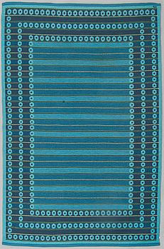 MATTA, maskinvävd, dubbelsidig, möjligen Kasthall, signerad ID (Ingrid Dessau), ca 236 x 158 cm.