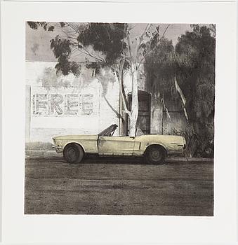 JOHN-E FRANZÉN, färglitografi, signerad, daterad 1986, PT.