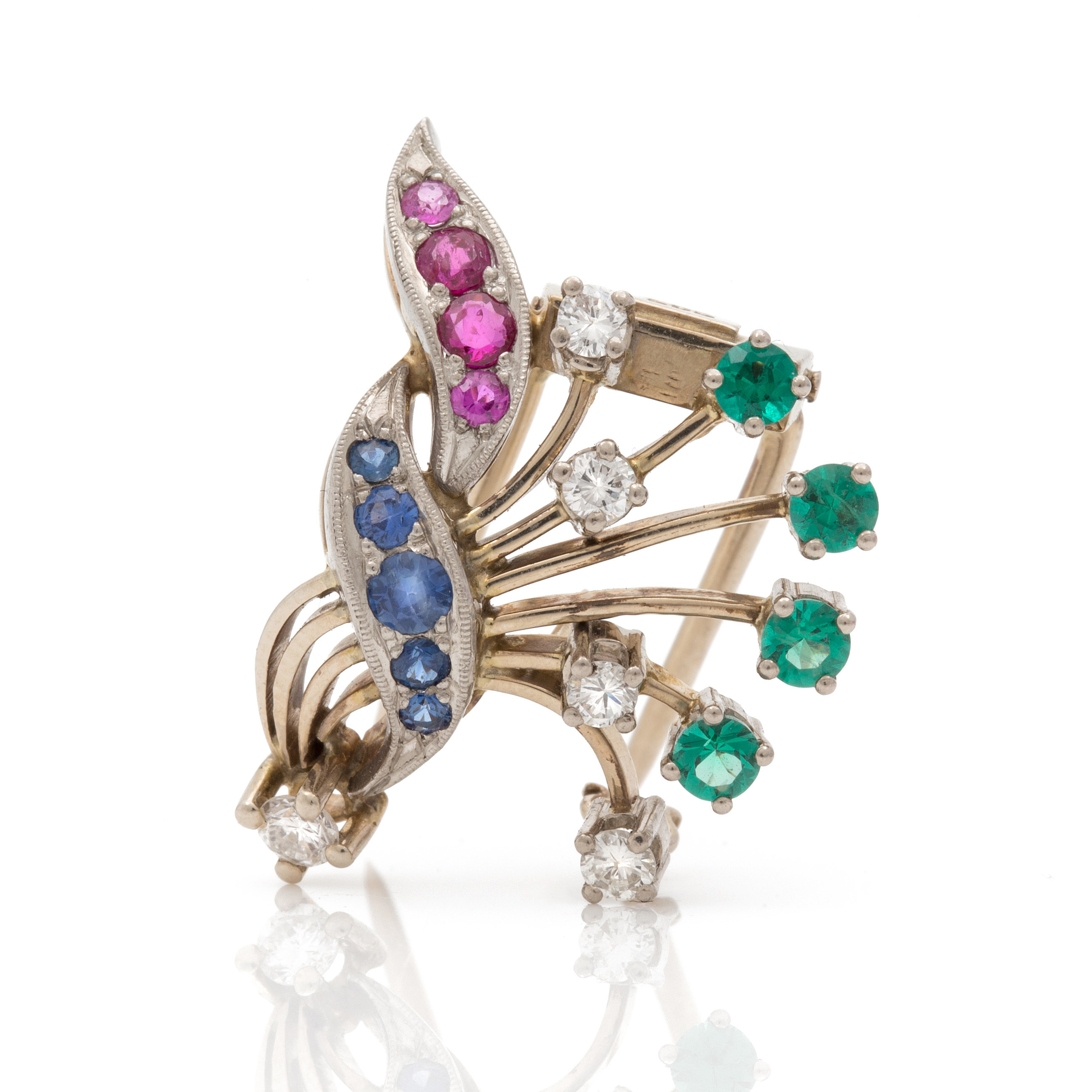 A clip brooch in the shape of a bouquet of flowers bukowskis izmirmasajfo