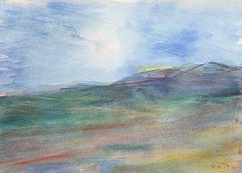 JOHN IVAR BERG, akvarell. Signerad och daterad 75.