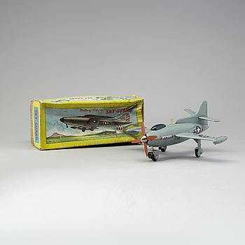 "LEKSAKSFLYGPLAN, ""Battery Plane Sky- Gard"", SHOWA, USA, 1960-tal."