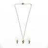 """Georg jensen, necklace and earrings, """"moonlight grapes"""", silver"""