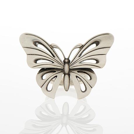 """Georg jensen, ring, """"butterfly"""", silver"""