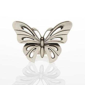 """GEORG JENSEN, RING, """"Butterfly"""", silver."""