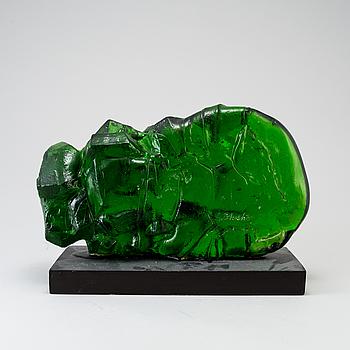 EDVIN ÖHRSTRÖM, skulptur, glas, signerat. 1900-talets slut.