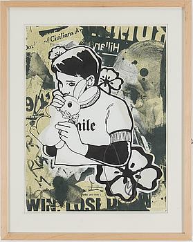 """FAILE, """"Bunny Boy"""", serigrafi, signerad och a tergo numrerad 7/11."""