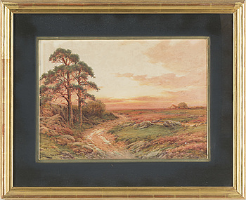 HARRY JAMES STICKS, akvarell, signerad.