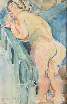 YRJÖ SAARINEN, akvarell, signerad och daterad 1943.