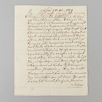 ADOLF FREDRIK, signerat dokument, signerad och daterad, 1749.