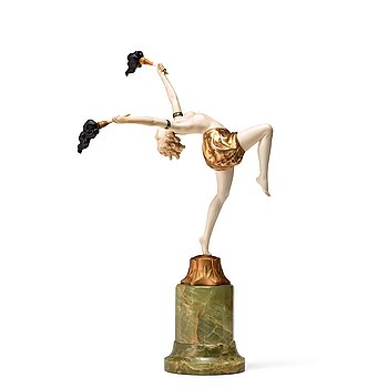"112. FERDINAND PREISS, skulptur ""The Torch Dancer"", Frankrike ca 1925."