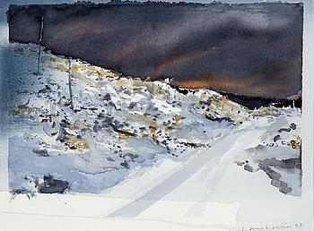 LARS LERIN, akvarell signerad Lars Lerin och daterad 97.
