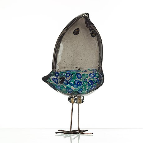 "Alessandro pianon, fågel, ""pulcino"", vistosi, italien 1960-tal."